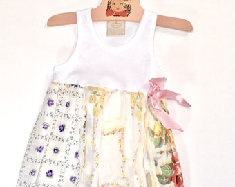 Hankie Babies vintage hankie onesie dress -- Sophie style Made to Order Wholesale Avail