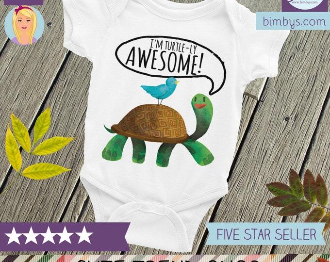 Baby Onesie, Turtle baby ONESIE® Funny Onesie | Awesome Onesie | Funny Onesie | Turtle Onesie | Turtle Baby Shower | Turtle Baby | Awesome