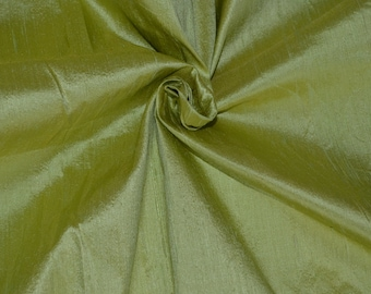 Silk Dupioni in Lime green with yellow shimmer, Extra wide 50 inches, Half yard - DEX 267
