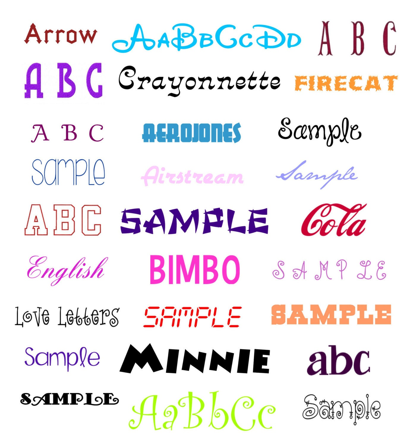 Download FONT ALPHABET LETTERS vp3 designs pack for embroidery