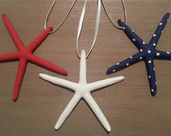 Starfish Garland, Starfish Ornament, Starfish, Beach Garland, Coastal Garland, Patriotic Ornaments, 4th July, Beach Ornament, Beach Decor