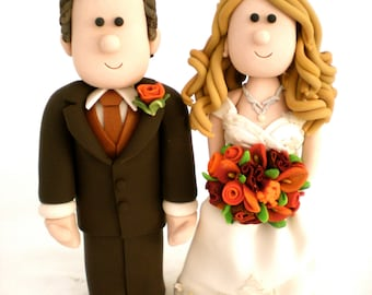Custom Wedding Cake Toppers - Bride and Groom Personalized Cake Top