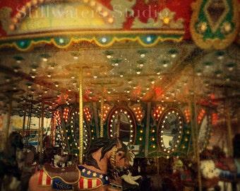 Dreamy Vintage Merry-go-round Digital Photo Upload