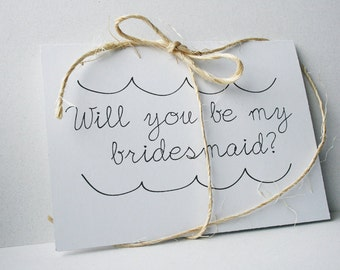 Will You Be My Bridesmaid -- Personalized Set of Cards & Envelopes for your Wedding Party -- CHOOSE YOUR QUANTITY
