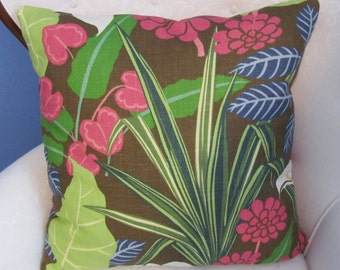 "Robert Allen 22"" Tropical Print Pillow Cover"
