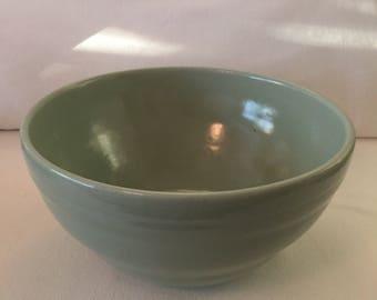 Large Vintage Stoneware Mixing Bowl ~ Green