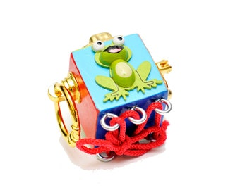Busy board Wooden toy busy cube sensory Travel toy Fine motor activity board Educational toddler gift Fidget cube Latch board 1st birthday