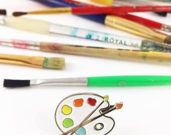 SECONDS SALE! - 40% OFF Regular Price - Paint Palette Enamel Pin