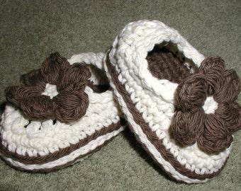 Hand Crochet Baby Mary Jane Skimmers