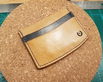 3 Pocket Slim Leather Card Wallet