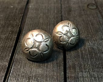 Vintage Sterling Silver Earrings   #250