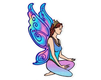 Meditation Fairy sticker
