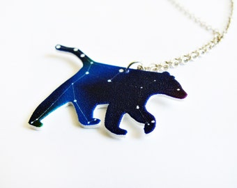Ursa Major Star Constellation Blue Bear Cosmic Necklace