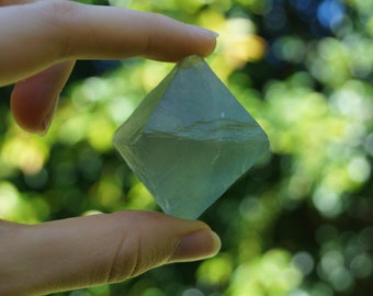 Natural Fluorite Octahedron || 75gm || 35mm x 35mm x 50mm ||