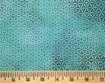 Bohemian cotton poplin fabric, Modern teal 6JYF1, Bohemian Manor II, Jason Yenter, In The Beginning. Quilting Fabric by the yard, quilting