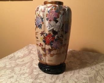 Oriental Hand Painted Vase