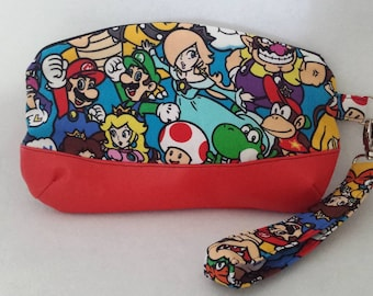 Clutch Bag Made With Mario And Friends Fabric. Geek, Fandom