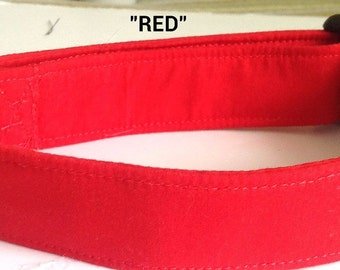 Solid Red Dog & Cat Collar for Casual or Holiday Wear