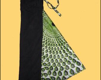 Harem pants black, green and white