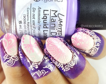 Mani Defender - Water Marble Edition- Liquid Latex for perfect nails - Use for easy clean up of stamping and nail art