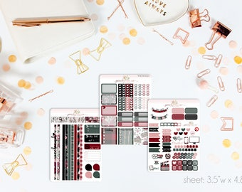Winter Cottage MINI Weekly Kit // 130+ Matte Planner Stickers // Perfect for your Personal Planner // WKM0930