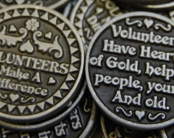 Volunteers Make a Difference Pocket Tokens - SET OF 10