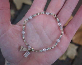April Birthstone Bracelet (Crystal)