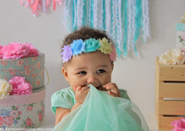 Spring Mini Flower Crown For Baby Girl Easter Dress Headband