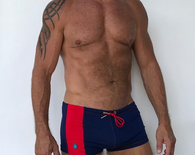 Featured listing image: Key Pocket Swim Short Navy Red