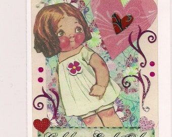 Handmade Greeting Card - Love