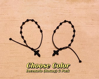 2 PACK - Rosary Bracelets (Decenarios)- Choose color(s)