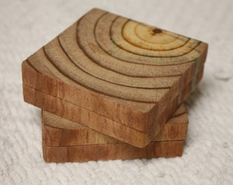 Real Wood Coaster (4pc)