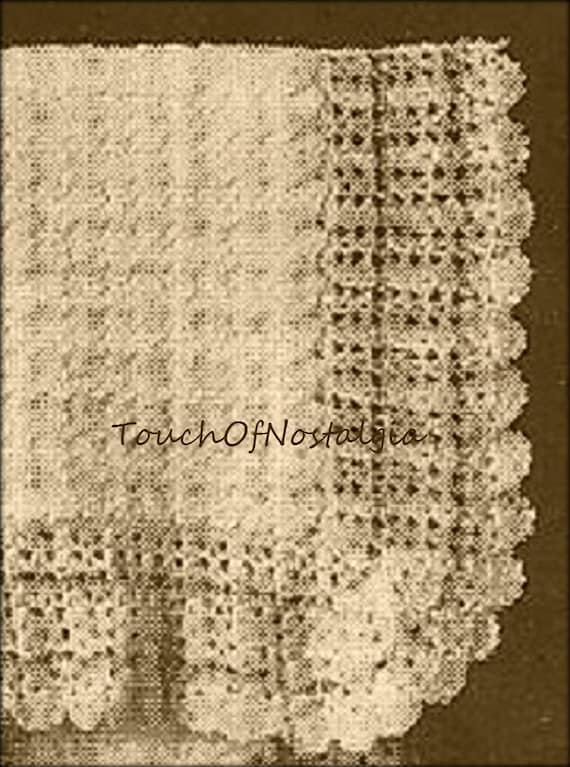 Lacy Baby Shawl Antique Crochet Pattern Edwardian Lace Heirloom Baby