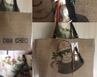 "Large bag in Burlap ""Panama"""