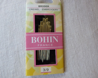 Needles pins France embroidery set 3-9