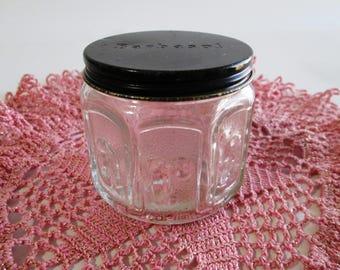 Vintage Barbasol Shave Cream Jar, Barbasol Shaving Cream Jar, Embossed Shave Cream Jar & Lid, Vintage Men's Shave Cream Jar, Bathroom Decor