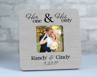 Personalized Wedding Frame for Couple, Mr and Mrs Picture Frame, Photo Frames for Newlyweds, Wedding Gift for Couple, Established Frame