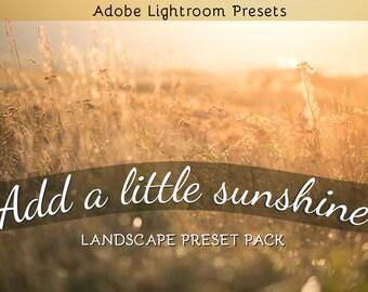 Add a Little Sunshine: Adobe Lightroom Preset Pack
