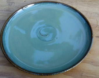 Ceramic Pasta Plate/Main course,  Sky Blue Glaze - Handmade Pottery Wheel Thrown