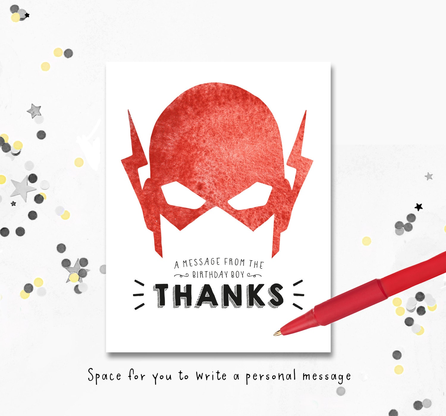 Thank you cards the flash birthday invite the flash zoom kristyandbryce Images