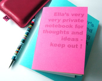 Personalised Notebook (A6)