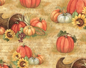 Harvest Horn Of Plenty Cotton Fabric Sold by the Yard