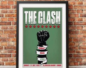 The Clash Rock Concert Poster