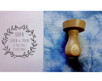 Stamp Crown D stamp address custom rubber stamp address personalized, address stamp wedding stamp, custom, personalized stationery