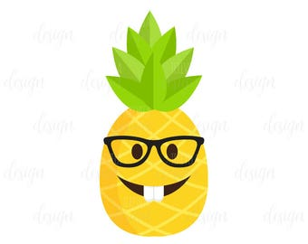 50% SALE  emoji graphic, pineapple nerd image, summer graphic, commercial use