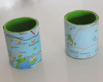 map of France North, table decor napkin ring