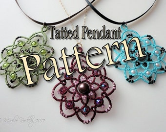"Tatting Pattern ""Rotation"" Pendant PDF Instant Download"