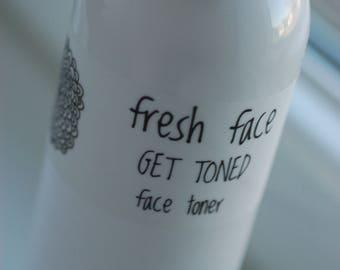 fresh face GET TONED facial toner 4oz all natural