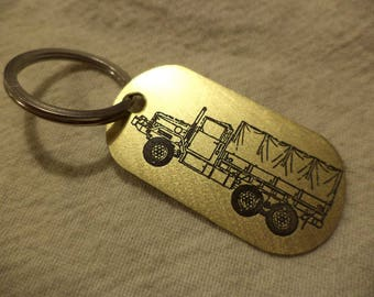 M35 Deuce and a Half Etched Brass Keychain