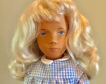 Sasha Doll 107 Blonde Gingham Dress